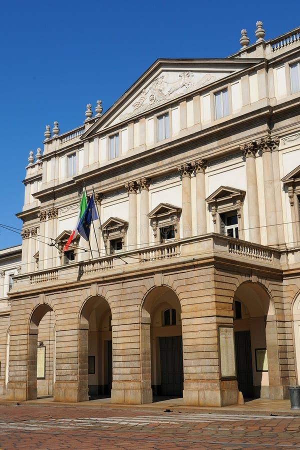 θέατρο scala της Ιταλίας Μιλάν&omi στοκ εικόνα