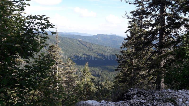 Θέα βουνού στοκ εικόνα