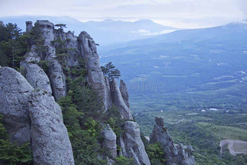 Θέα βουνού Demergi Κριμαία στοκ φωτογραφίες