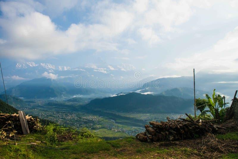 Θέα βουνού Himalayan στοκ εικόνες