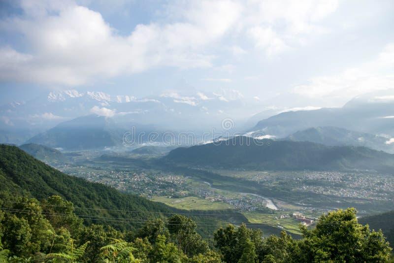 Θέα βουνού Himalayan στοκ εικόνα