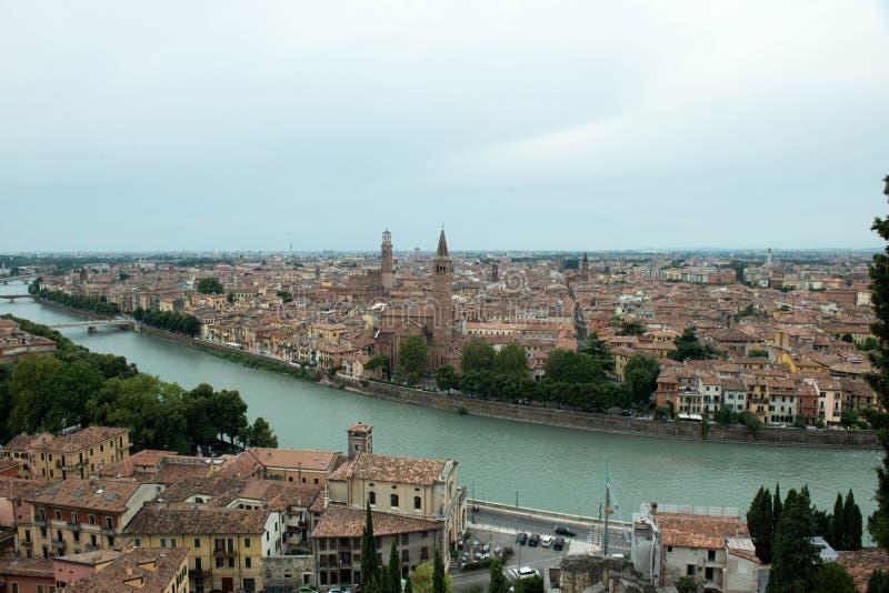 Θέα πόλεων της Βερόνα στοκ εικόνα με δικαίωμα ελεύθερης χρήσης