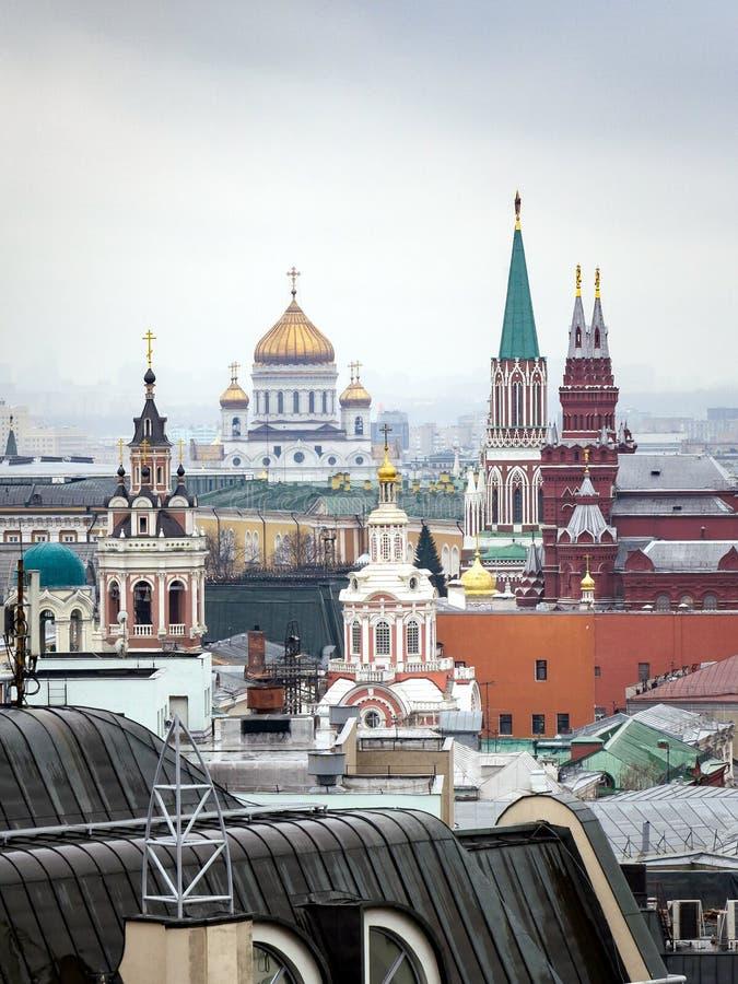 Θέα στο κέντρο της Μόσχας από το κεντρικό κατάστημα παιδικών παιχνιδιών στοκ εικόνα