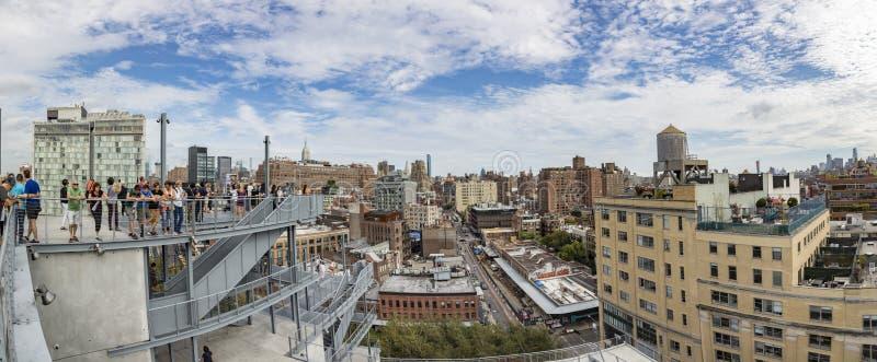Θέα στο κέντρο του Μανχάταν, Νέα Υόρκη, από την πλατιά μορφή του μουσείου Whitney στοκ φωτογραφία με δικαίωμα ελεύθερης χρήσης