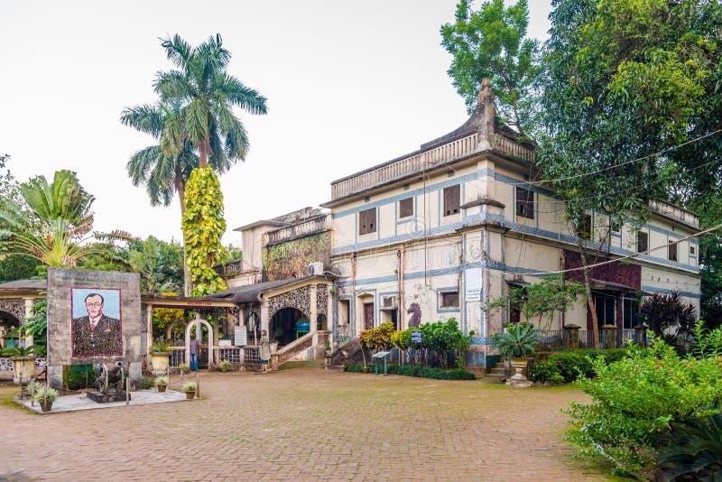 Θέα στο κτίριο του Ουσείου στο Bogra - Μπαγκλαντές στοκ εικόνες