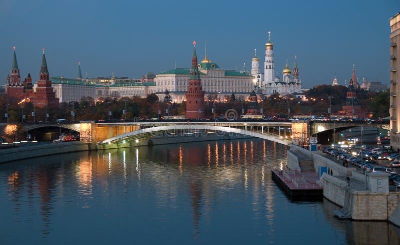 θέα της Ρωσίας νύχτας καρδ&i στοκ εικόνα με δικαίωμα ελεύθερης χρήσης