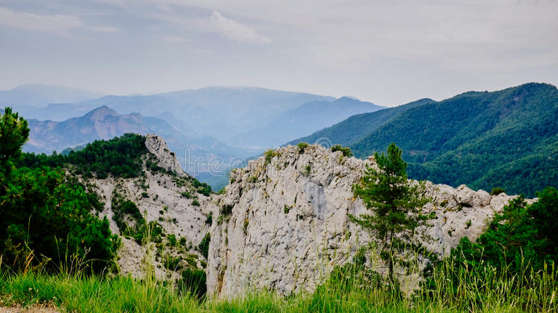 Θέα των Πυρηναίων στοκ εικόνα
