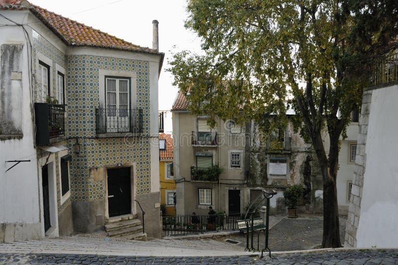 θέες της Λισσαβώνας alfama στοκ εικόνες