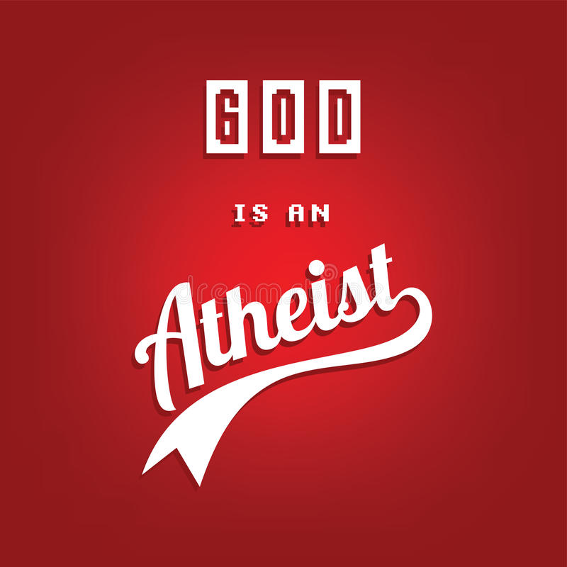 θέμα αθεϊσμού - ενάντια στη θρησκευτική εκστρατεία άγνοιας ελεύθερη απεικόνιση δικαιώματος