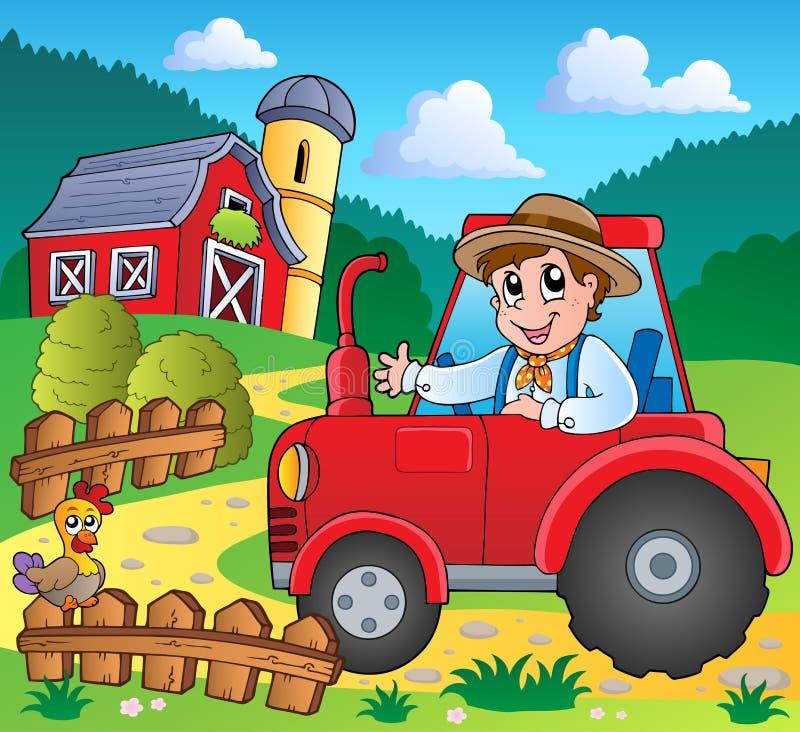 θέμα εικόνας 3 αγροκτημάτων ελεύθερη απεικόνιση δικαιώματος