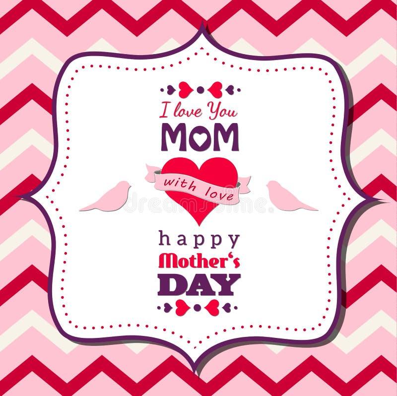 Θέμα ημέρας μητέρων διανυσματική απεικόνιση