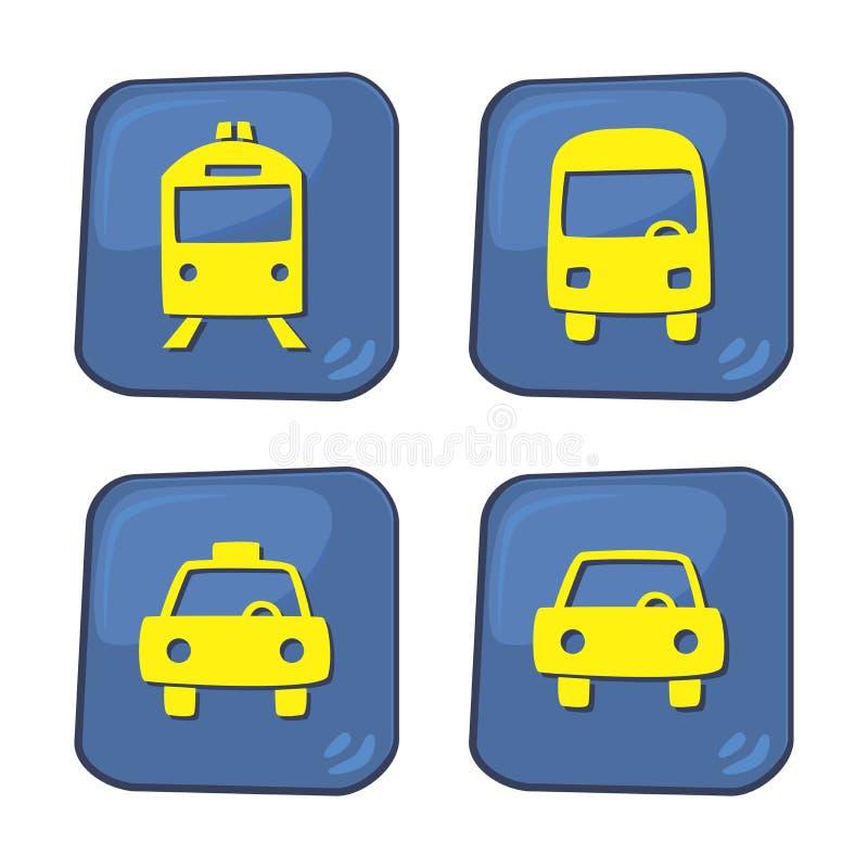 Download Θέμα κουμπιών εικονιδίων αυτοκινήτων Διανυσματική απεικόνιση - εικονογραφία από σύμβολο, πολυμέσα: 62713566