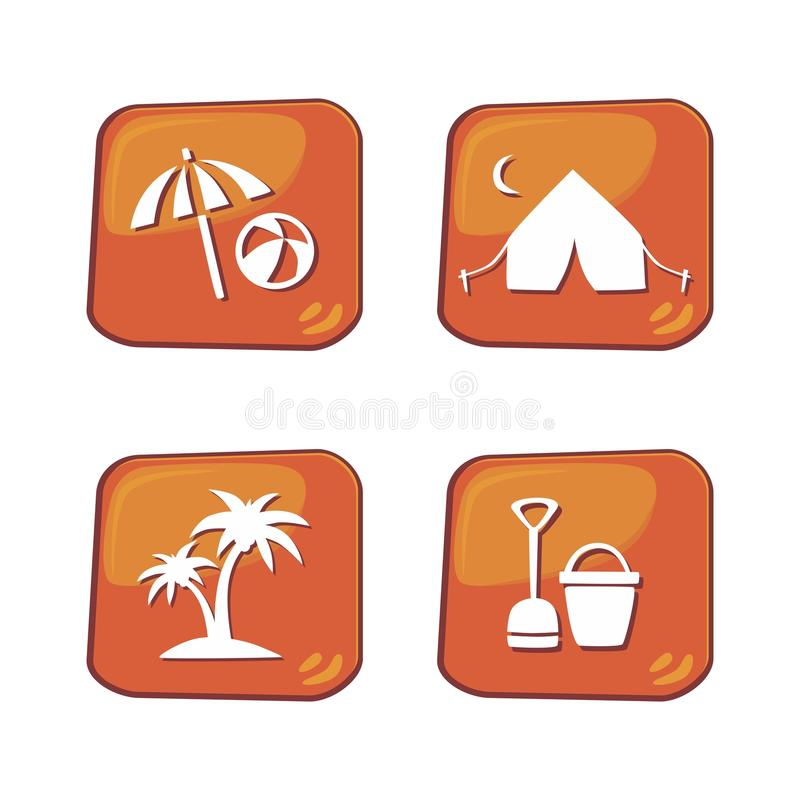 Download Θέμα κουμπιών εικονιδίων διακοπών Διανυσματική απεικόνιση - εικονογραφία από θέμα, χτυπήστε: 62713569