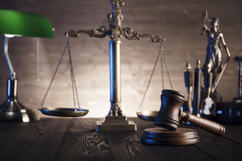 Θέμα νόμου και δικαιοσύνης στοκ εικόνες