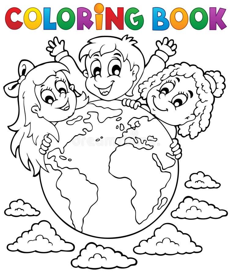 Θέμα 2 παιδιών βιβλίων χρωματισμού απεικόνιση αποθεμάτων