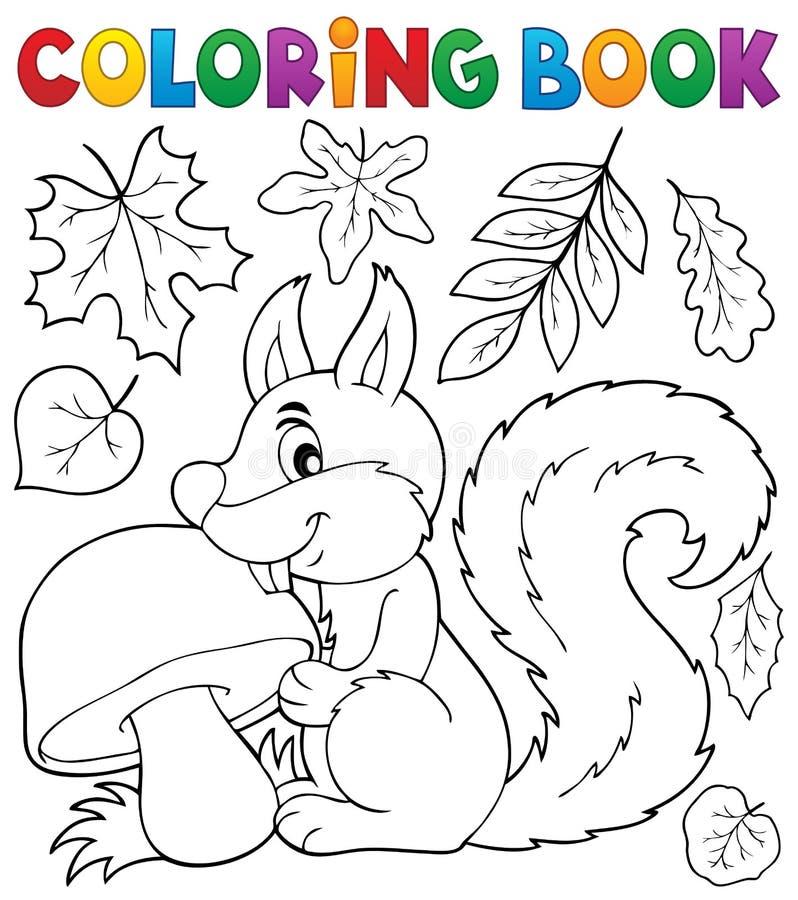 Θέμα 2 σκιούρων βιβλίων χρωματισμού απεικόνιση αποθεμάτων