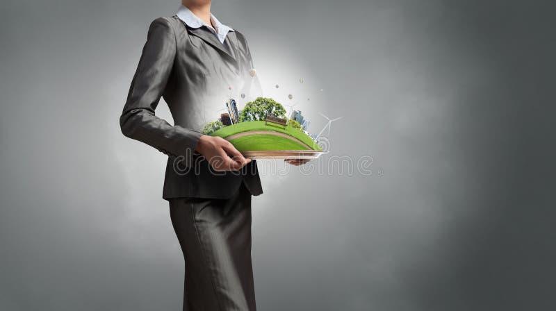 Θέμα του περιβάλλοντος και της σύγχρονης ζωής στοκ εικόνα με δικαίωμα ελεύθερης χρήσης