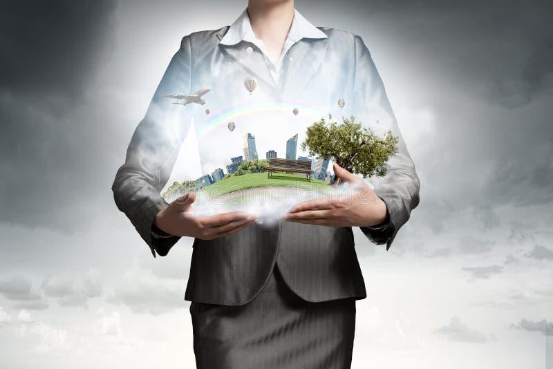 Θέμα του περιβάλλοντος και της σύγχρονης ζωής στοκ εικόνες με δικαίωμα ελεύθερης χρήσης