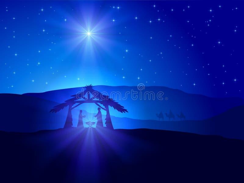 Θέμα Χριστουγέννων με το αστέρι ελεύθερη απεικόνιση δικαιώματος