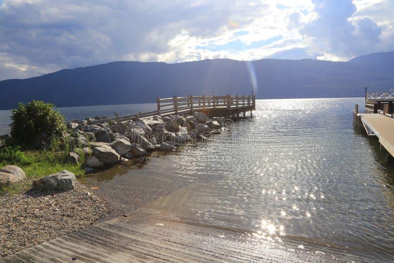 Θέρετρα τουρισμού lakefront Π.Χ. στοκ φωτογραφία με δικαίωμα ελεύθερης χρήσης