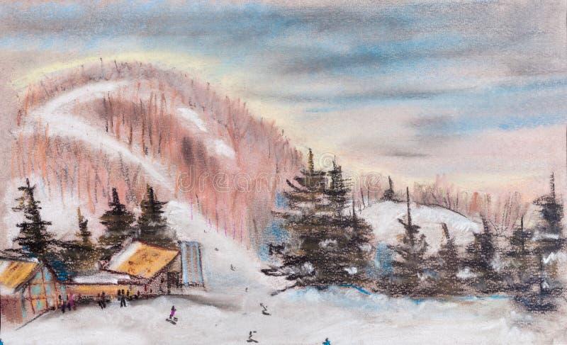 Θέρετρο βουνών ελεύθερη απεικόνιση δικαιώματος