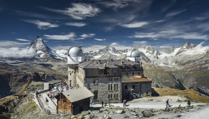 Θέρετρο βουνών Gornergrat στοκ φωτογραφία με δικαίωμα ελεύθερης χρήσης