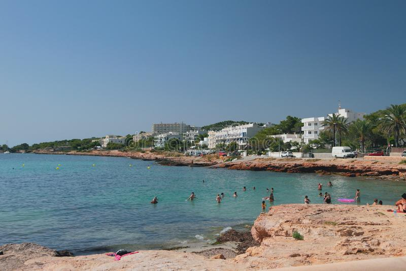 Θέρετρο εν πλω San Antonio, Ibiza, Ισπανία στοκ εικόνα