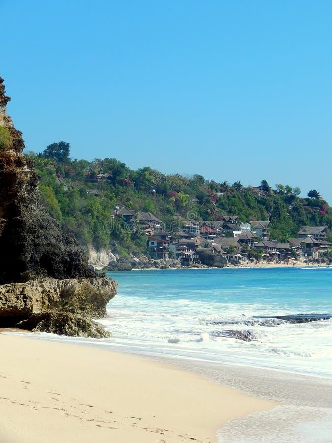 θέρετρο και παραλία σε Dreamland Μπαλί Ινδονησία στοκ φωτογραφία