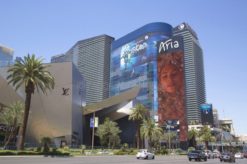 Θέρετρο και χαρτοπαικτική λέσχη της Aria στο Las Vegas Strip στοκ φωτογραφίες με δικαίωμα ελεύθερης χρήσης