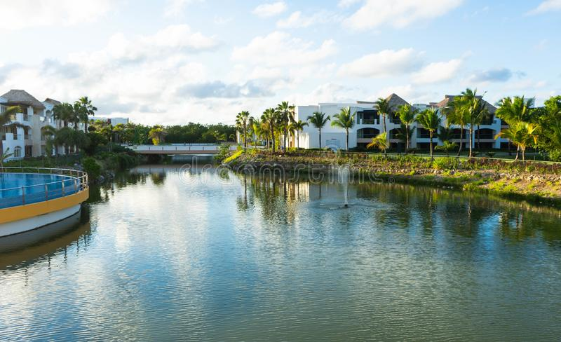 Θέρετρο σκληρής ροκ και ξενοδοχείο, Punta Cana στοκ εικόνα με δικαίωμα ελεύθερης χρήσης