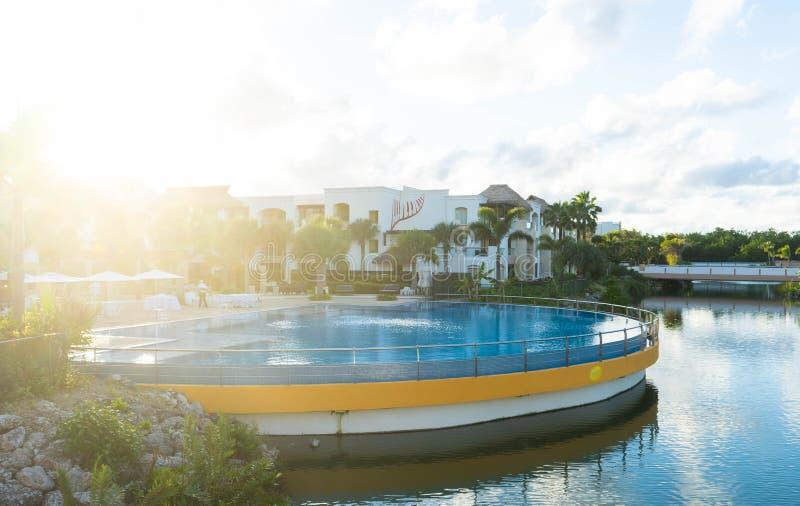 Θέρετρο σκληρής ροκ και ξενοδοχείο, Punta Cana στοκ φωτογραφίες