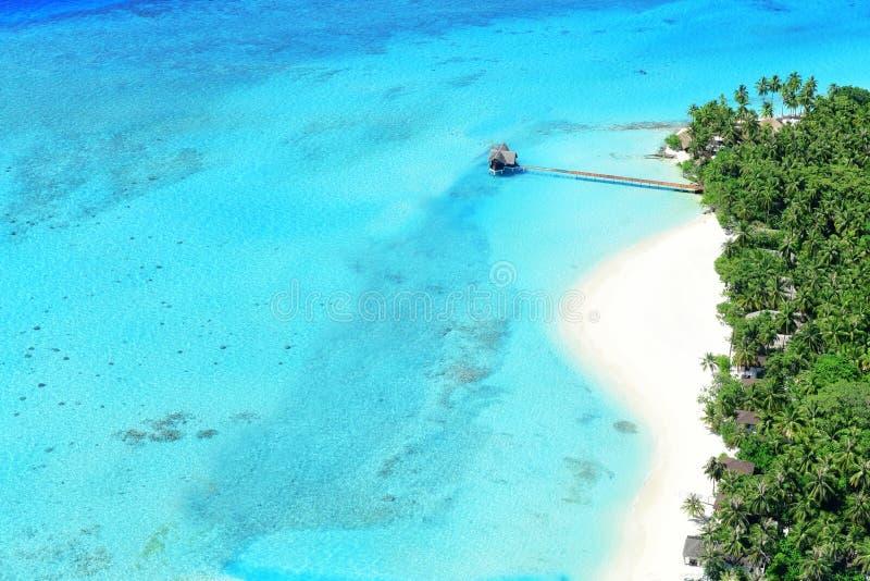 Θέρετρο στο νησί των Μαλδίβες στοκ φωτογραφίες