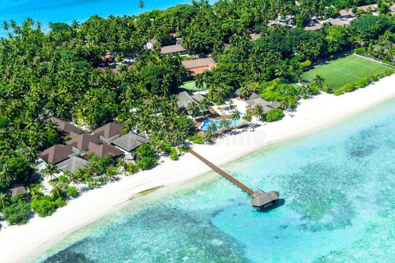 Θέρετρο του Palm Beach, νησί των Μαλδίβες στοκ φωτογραφίες