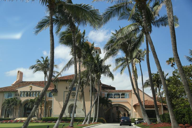 Θέρετρο χαλώ-α-Lago στο Palm Beach, Φλώριδα στοκ εικόνες με δικαίωμα ελεύθερης χρήσης