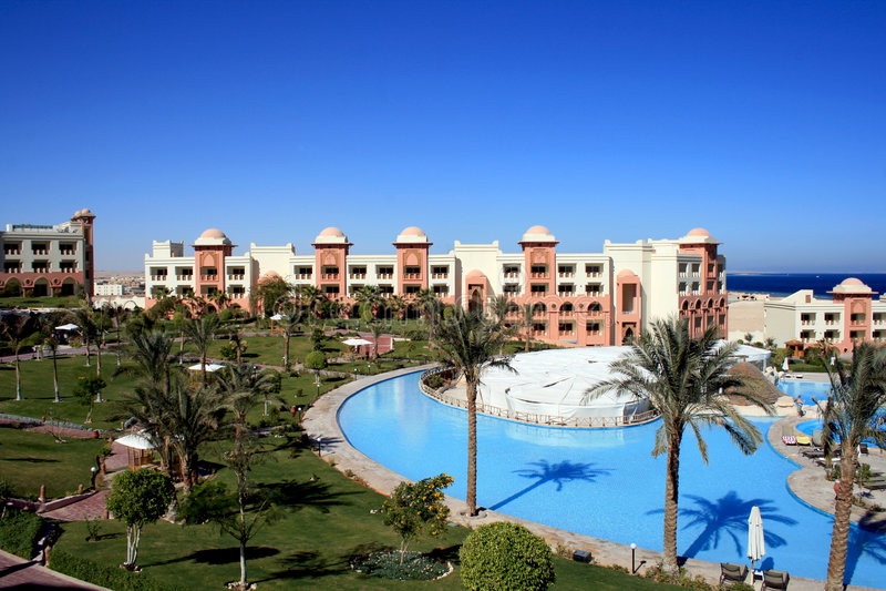 θέρετρο makadi ξενοδοχείων της Αιγύπτου κόλπων στοκ φωτογραφία με δικαίωμα ελεύθερης χρήσης
