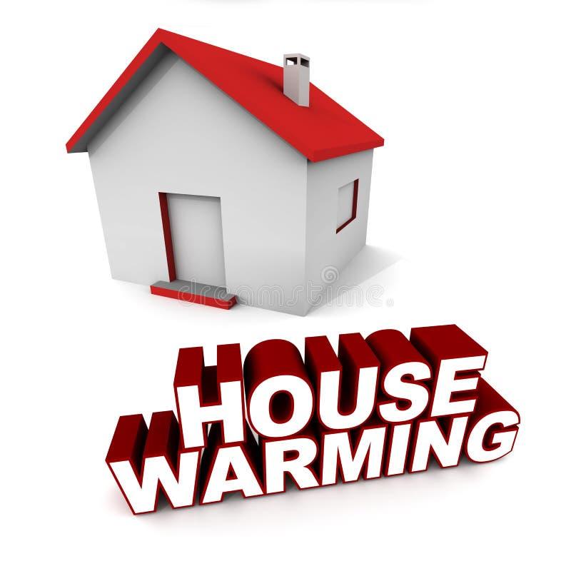Θέρμανση σπιτιών απεικόνιση αποθεμάτων