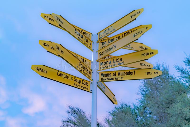 Θέσεις που δείχνονται διάσημες από το σημάδι σε Christchurch στοκ εικόνα με δικαίωμα ελεύθερης χρήσης