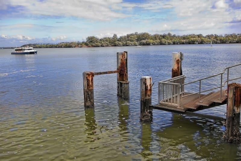 Θέσεις πρόσδεσης για τις μικρές βάρκες στοκ εικόνες