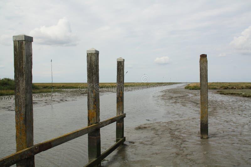 Θέσεις πρόσδεσης Noordpolderzijl στοκ φωτογραφίες
