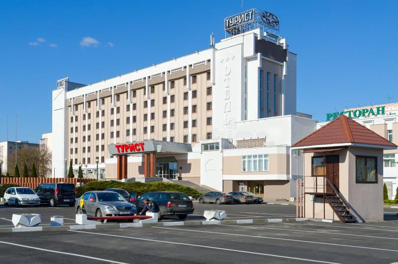 Θέσεις στάθμευσης στον τουρίστα ξενοδοχείων, Gomel, Λευκορωσία στοκ εικόνες