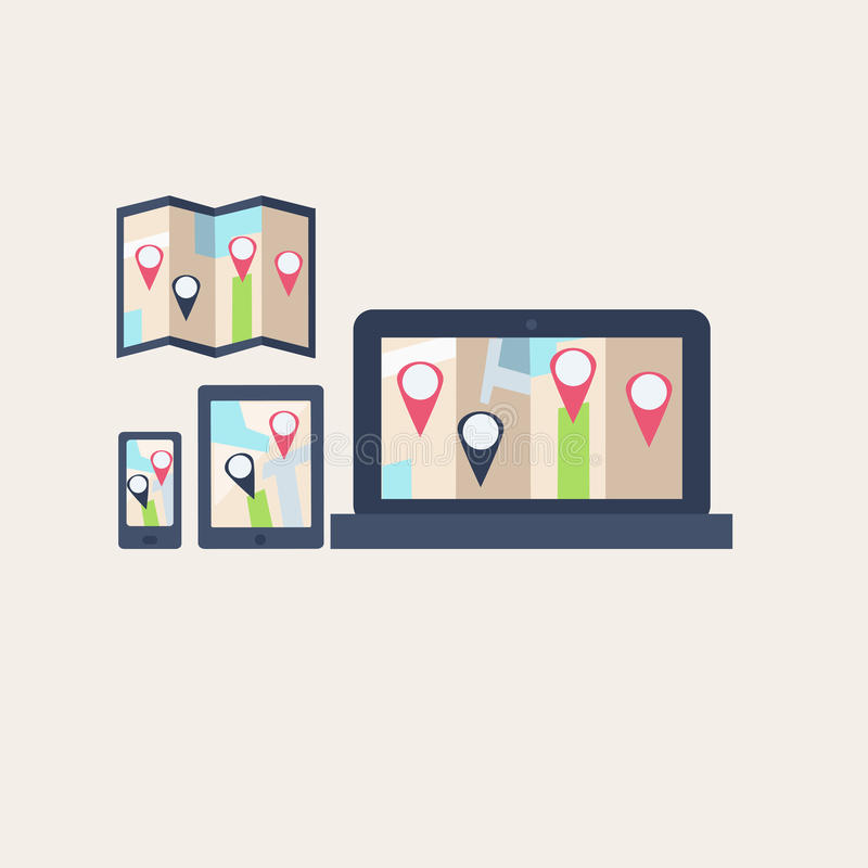 Θέσεις χαρτών απεικόνιση αποθεμάτων