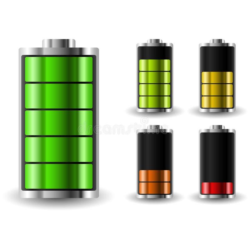 Θέση δαπανών μπαταριών Επαναφόρτιση του συσσωρευτή διανυσματική απεικόνιση