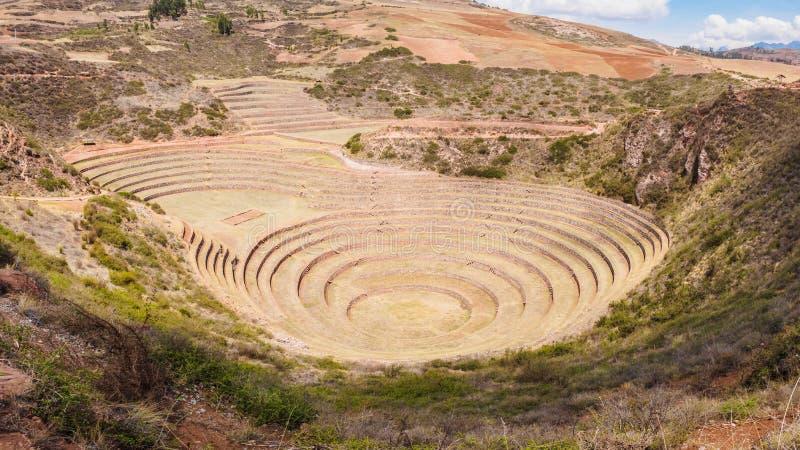Θέση αρχαιολόγων Moray πλησίον Cuzco, Περού στοκ φωτογραφία με δικαίωμα ελεύθερης χρήσης