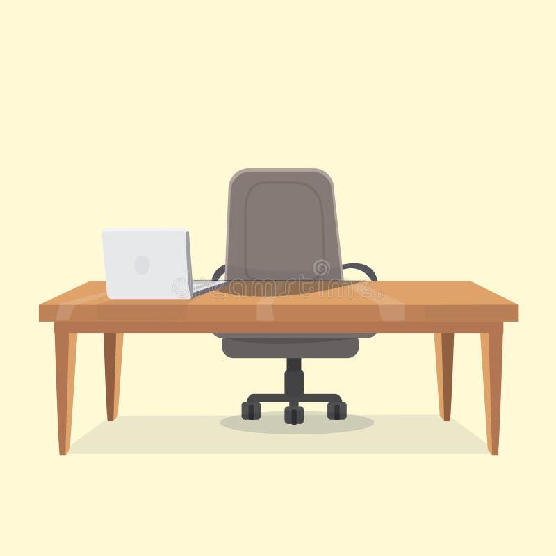 Θέση εργασίας γραφείων με τον πίνακα ελεύθερη απεικόνιση δικαιώματος