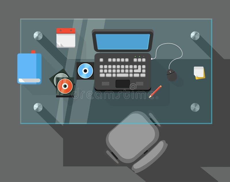 Θέση εργασίας ενός διευθυντή γραφείων ελεύθερη απεικόνιση δικαιώματος