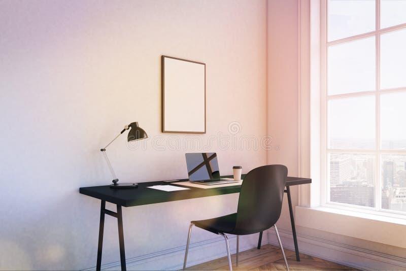 Θέση εργασίας στο σπίτι απεικόνιση αποθεμάτων