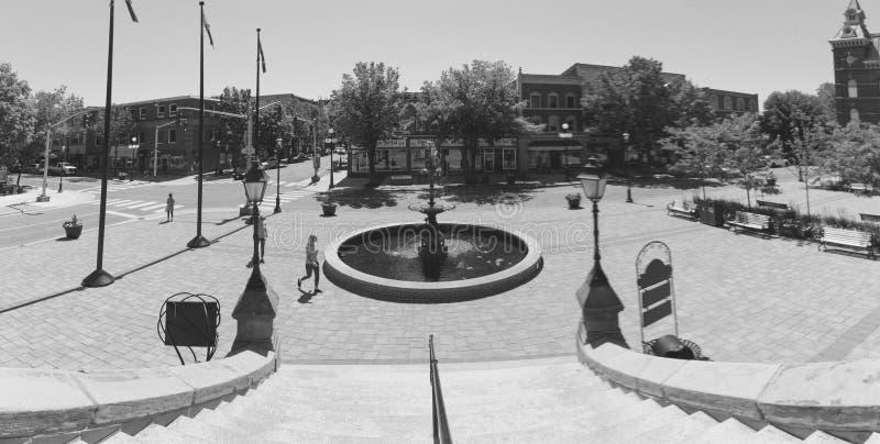 Θέση μπροστά από το Δημαρχείο, Fredericton, Νιού Μπρούνγουικ, Καναδάς στοκ εικόνα