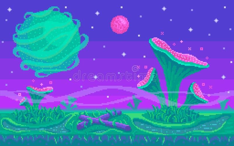 Θέση παιχνιδιών τέχνης εικονοκυττάρου άνευ ραφής διάνυσμα ανασκό διανυσματική απεικόνιση