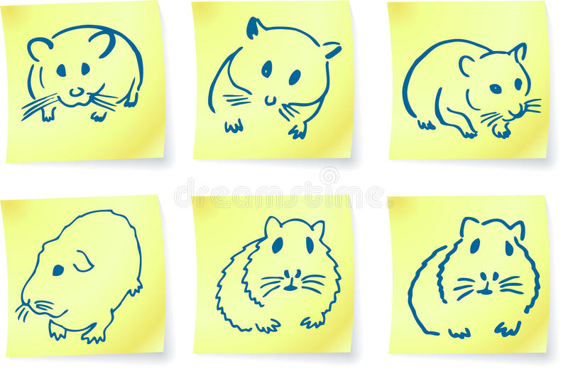 θέση σημειώσεων ποντικιών &c διανυσματική απεικόνιση