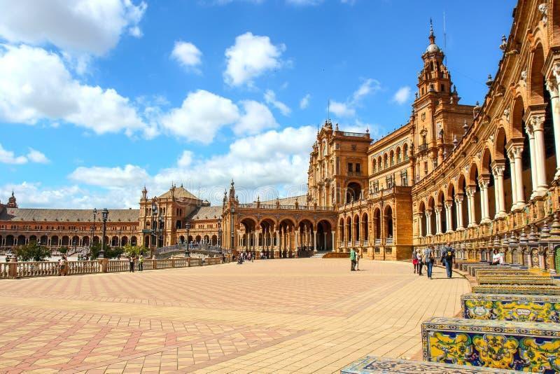 Θέση της Ισπανίας στη Σεβίλλη στοκ εικόνες